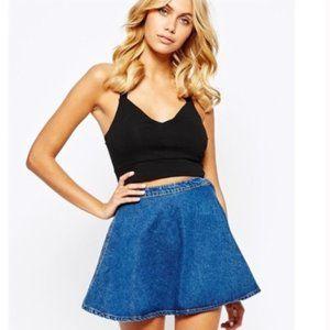 AMERICAN APPAREL Jean A Skirt size L